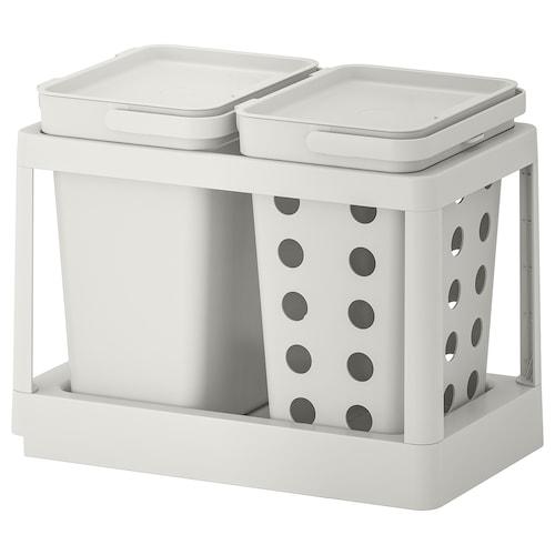 哈尔巴 垃圾分类解决方案, 外拉式 有通风装置/淡灰色, 20 公升