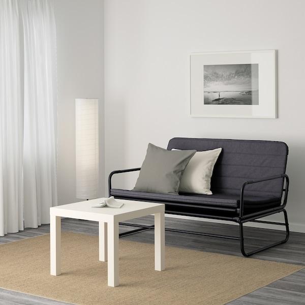 哈马恩 沙发床, 基尼萨 深灰色/黑色, 120 厘米