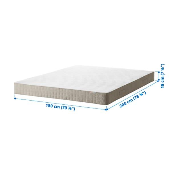 哈斯洛 弹簧床垫, 中等硬度/米黄色, 180x200 厘米