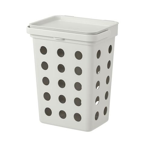 哈尔巴 湿垃圾用附盖垃圾桶 淡灰色 14.7 厘米 20.1 厘米 21.2 厘米 26.3 厘米 32.6 厘米 10 公升