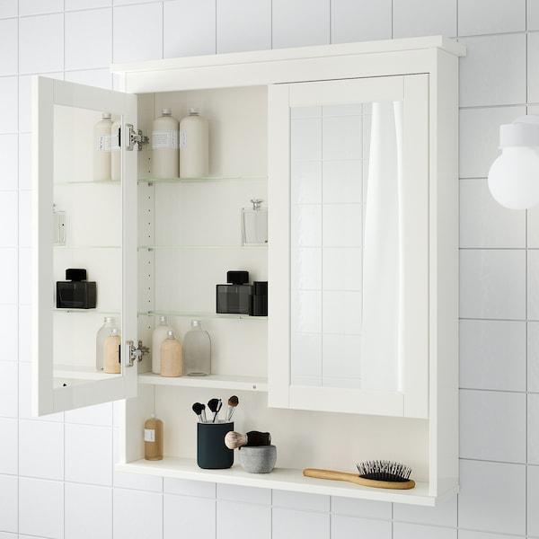 汉尼斯 双门镜柜, 白色, 83x16x98 厘米