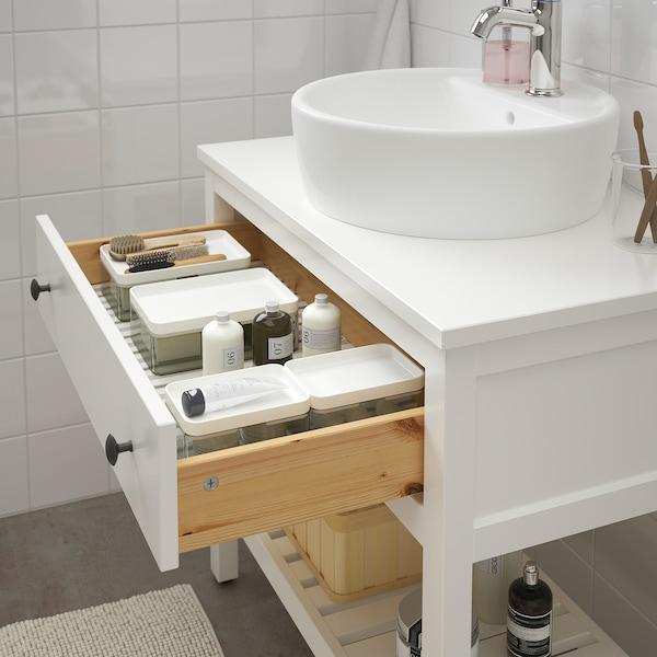 汉尼斯 / 通维肯 洗脸池柜带45cm洗脸池, 白色/VOXNAN 沃斯南 水龙头, 82x48x90 厘米