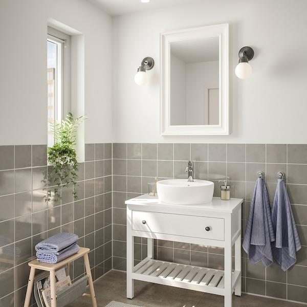 汉尼斯 / 通维肯 浴室家具,4件套, 白色/VOXNAN 沃斯南 水龙头, 82 厘米