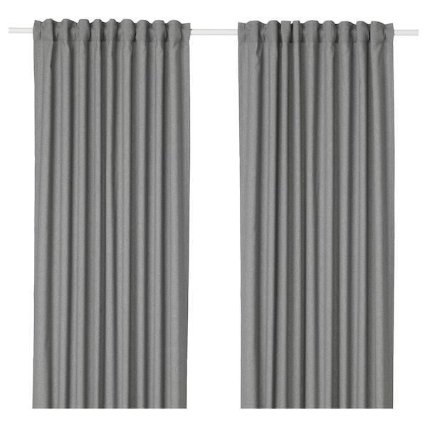 HANNALENA 杭纳列纳 窗帘,一对, 灰色, 145x250 厘米