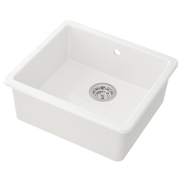 HAVSEN 霍夫森 嵌入式水槽,带1个槽, 白色, 53x47 厘米