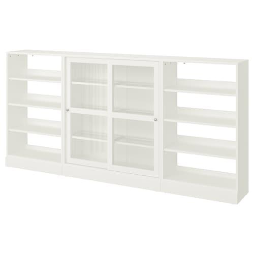 海思塔 玻璃滑门储物柜 白色 283 厘米 37 厘米 134 厘米 26 公斤