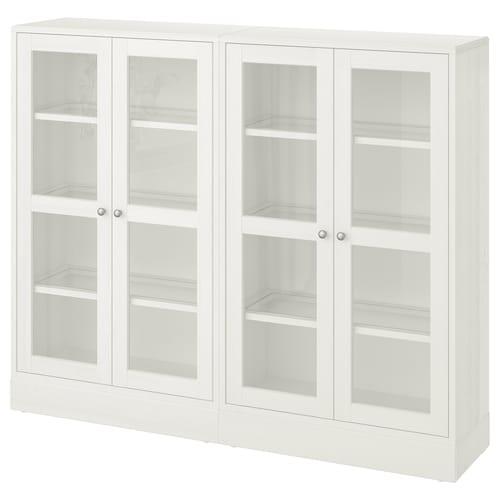 海思塔 玻璃门储物组合 白色 162 厘米 37 厘米 134 厘米 23 公斤