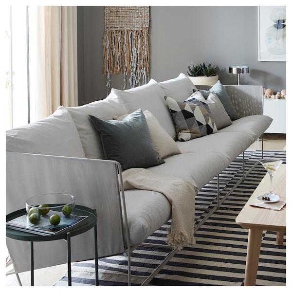 霍夫斯田 四人沙发,室内/户外 米黄色 341 厘米 94 厘米 90 厘米 62 厘米 42 厘米