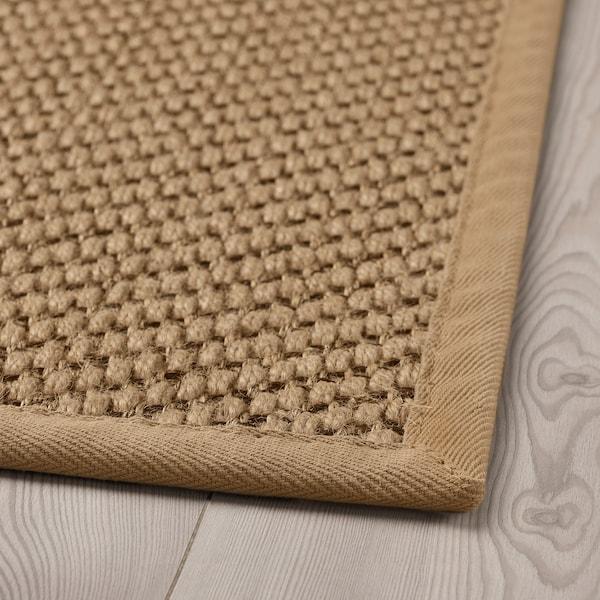 海勒特 平织地毯 自然色/褐色 195 厘米 133 厘米 8 毫米 2.59 平方米 2570 克/平方米