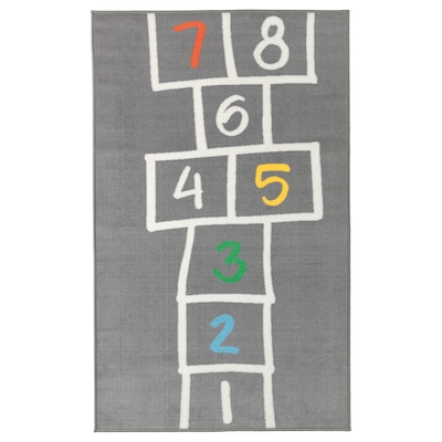 HEMMAHOS 汉马豪斯 儿童游戏垫, 灰色, 100x160 厘米