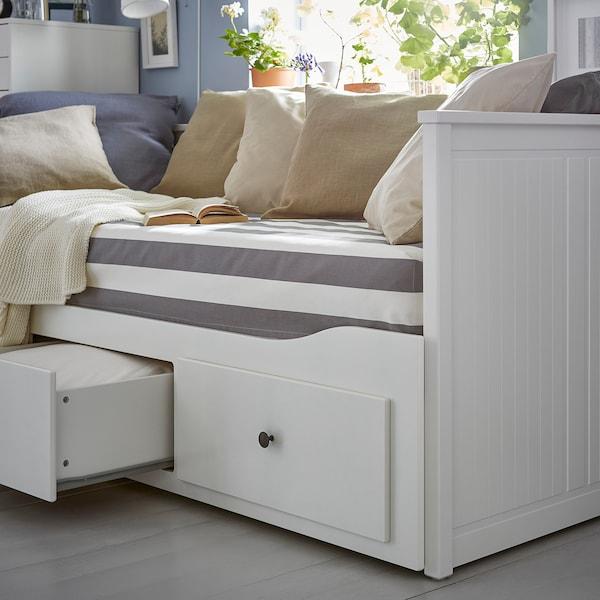 汉尼斯 坐卧两用床,带3个抽屉/2个床垫 白色/穆索特 硬型 18 厘米 209 厘米 89 厘米 83 厘米 55 厘米 70 厘米 168 厘米 202 厘米 200 厘米 80 厘米