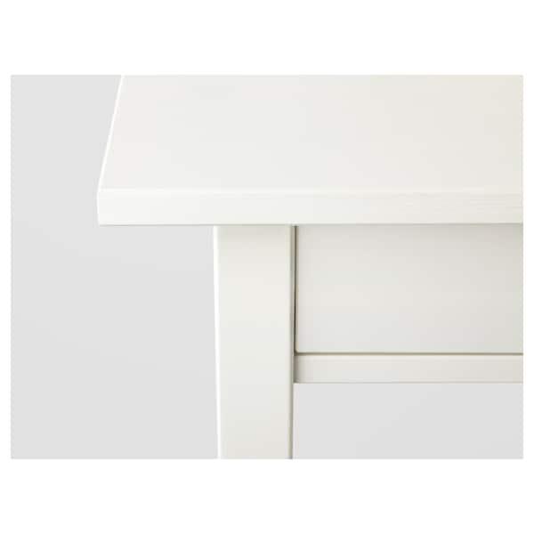 HEMNES 汉尼斯 床头桌, 白色漆, 46x35 厘米