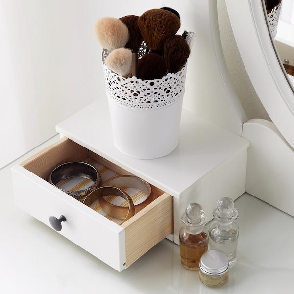HEMNES 汉尼斯 带镜梳妆台, 白色, 100x50 厘米