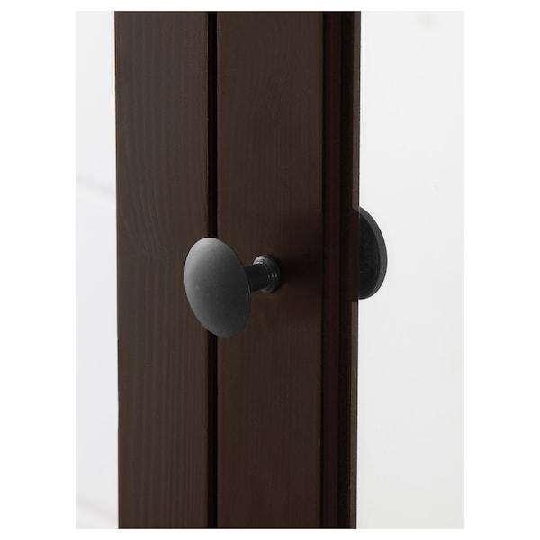 HEMNES 汉尼斯 高柜带镜门, 黑褐色, 49x31x200 厘米