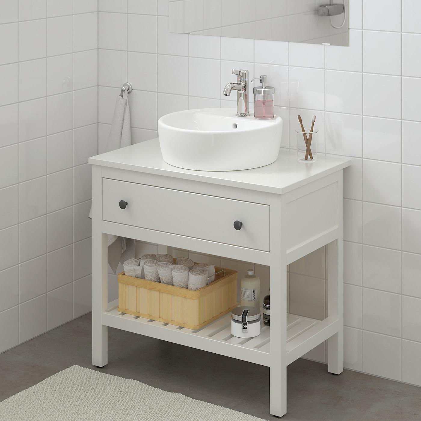 HEMNES 汉尼斯 开放式单屉洗脸池柜, 白色, 82x48x76 厘米