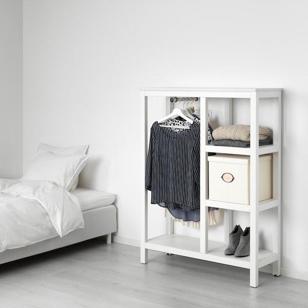 HEMNES 汉尼斯 开放式衣柜, 着白色漆, 99x37x130 厘米