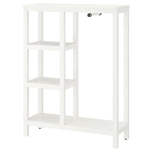 汉尼斯 开放式衣柜 着白色漆 99 厘米 37 厘米 130 厘米