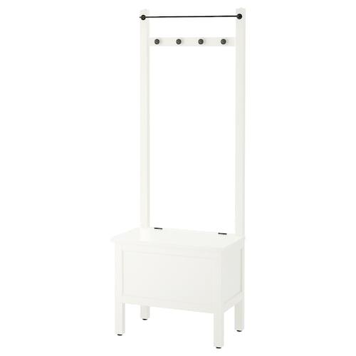 汉尼斯 储物长凳带毛巾杆/4个挂钩 白色 64 厘米 37 厘米 173 厘米