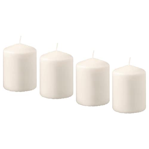 翰姆索 无香型阔形蜡烛 自然色 8 厘米 5.7 厘米 15 小时 4 件