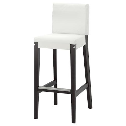 亨利克 吧台凳含靠背框架 深褐色 110 公斤 40 厘米 51 厘米 104 厘米 40 厘米 38 厘米 74 厘米