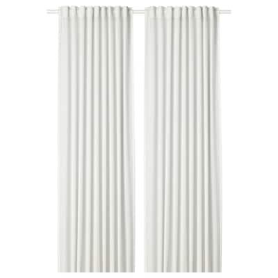 HILJA 茜利亚 窗帘,2幅, 白色, 145x250 厘米