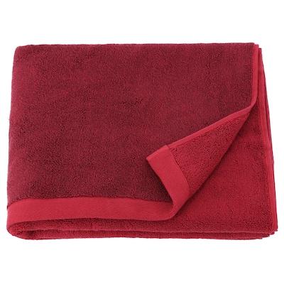 HIMLEÅN 希姆雷奥 浴巾, 深红色/混合物, 70x140 厘米