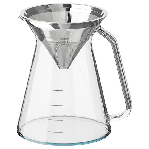 霍格穆迪 滴滤式咖啡机 透明玻璃/不锈钢 16 厘米 0.6 公升