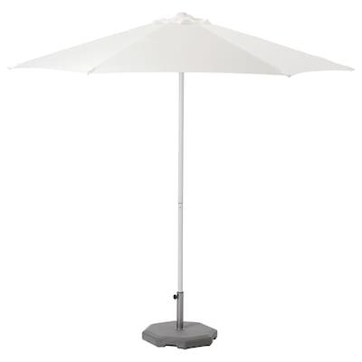 HÖGÖN 霍格约 带底座阳伞, 白色/户维恩 深灰色, 270 厘米