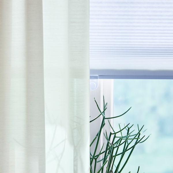 HOPPVALS 霍普沃 六边形百叶帘, 白色, 80x155 厘米