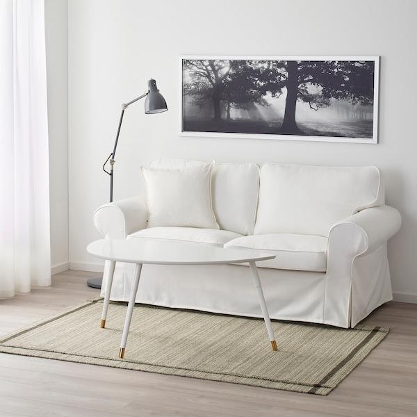 霍伊特 平织地毯, 手工制作/米黄色, 133x195 厘米