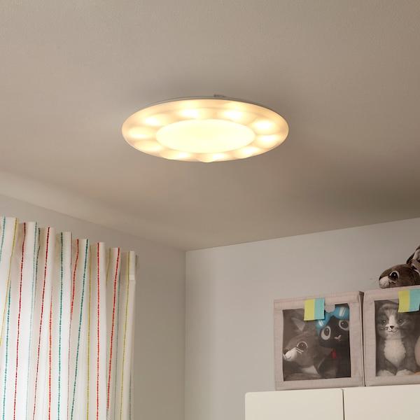 海普利 带遥控LED吸顶灯 可调光的 白色 9 厘米 50 厘米 42 瓦特