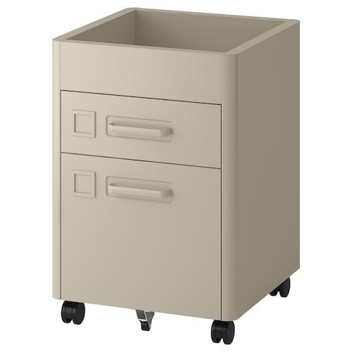 IKEA 伊朵森 抽屉柜带脚轮