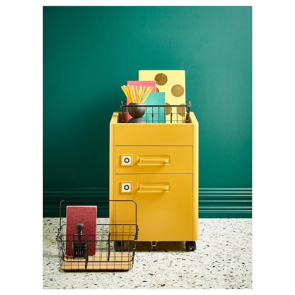 IDÅSEN 伊朵森 带锁抽屉, 金棕色, 42x61 厘米