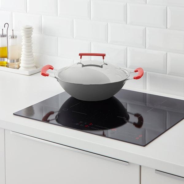 伊坦迪 带盖中式炒菜锅 深灰色/铝 10 厘米 32 厘米