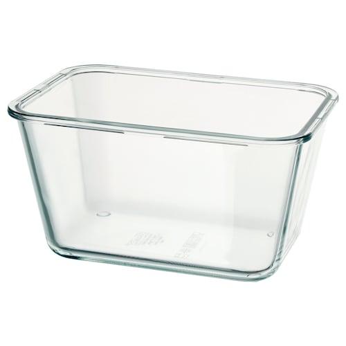 IKEA 365+ 食品盒 长方形/玻璃 21 厘米 15 厘米 11 厘米 1.8 公升