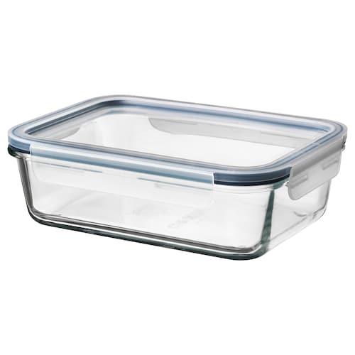 IKEA 365+ 附盖食品盒 长方形 玻璃/塑料 21 厘米 15 厘米 7 厘米 1.0 公升