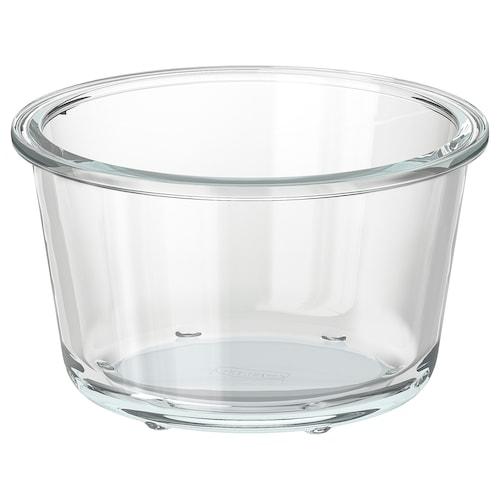 IKEA 365+ 食品盒 圆形/玻璃 8 厘米 14 厘米 600 ml