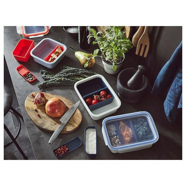 IKEA 365+ 午餐盒附插件 正方形 15 厘米 15 厘米 6 厘米 750 ml
