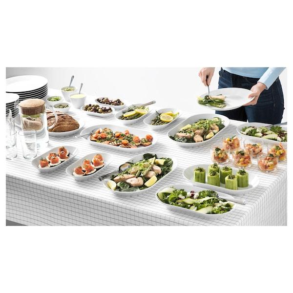 IKEA 365+ 上菜盘 白色 38 厘米 22 厘米 4 厘米