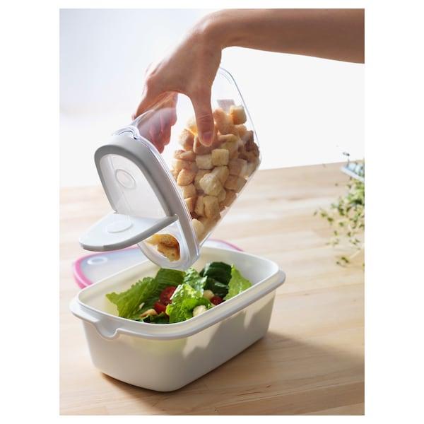 IKEA 365+ 附盖干燥食品储存罐, 透明/白色, 1.3 公升