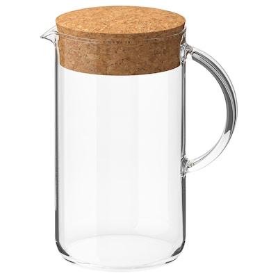 IKEA 365+ 附盖罐, 透明玻璃/软木, 1.5 公升