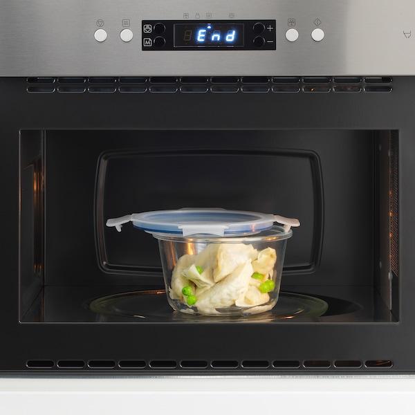 IKEA 365+ 附盖食品盒, 圆形 玻璃/塑料, 600 ml