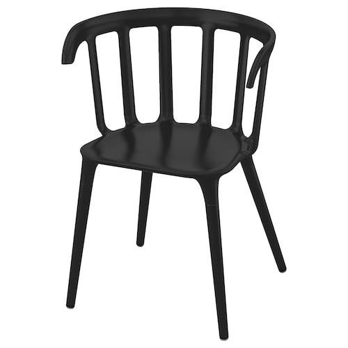 IKEA PS 2012 扶手椅 黑色 110 公斤 52 厘米 46 厘米 76 厘米 41 厘米 40 厘米 46 厘米