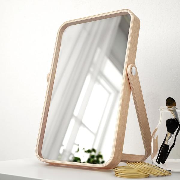 伊库斯 镜子 白蜡木 27 厘米 40 厘米