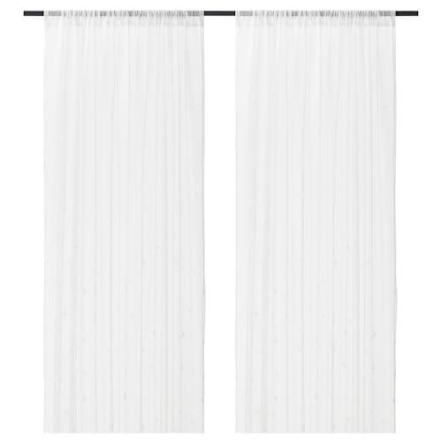 宜马力 窗帘,2幅 白色 彩色点点 250 厘米 145 厘米