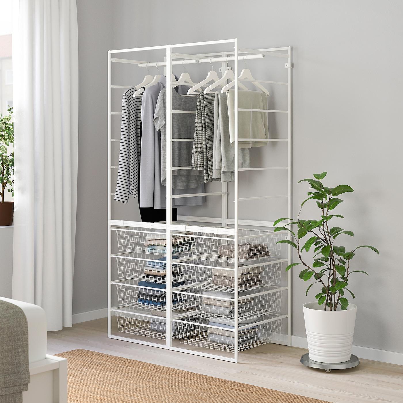 JONAXEL 尤纳赛尔 框架/网篮/挂衣杆, 白色, 99x51x173 厘米