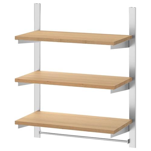 康福斯 挂杆带搁板/杆, 不锈钢/竹