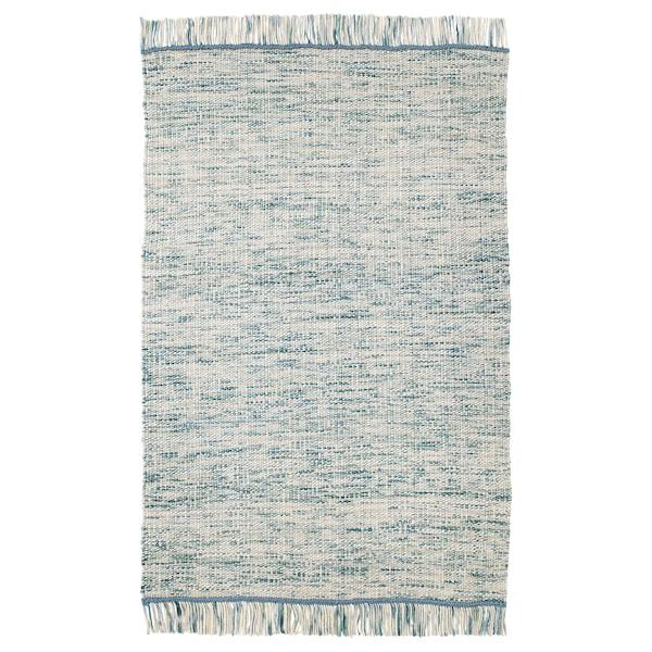 科本汉 平织地毯, 手工制作 蓝绿色, 133x195 厘米