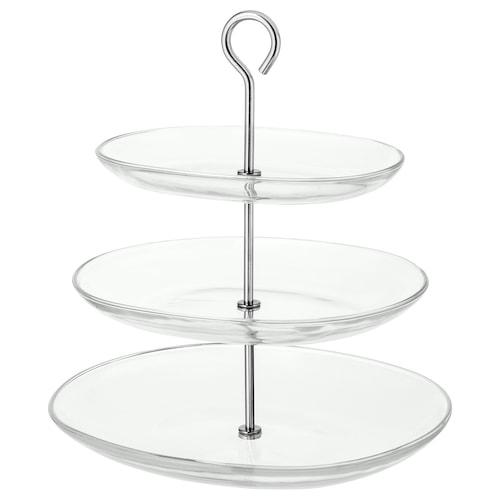 柯提拉 上菜架,三层, 透明玻璃/不锈钢