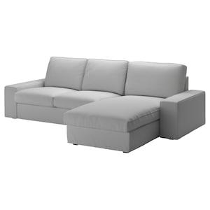 套: 带贵妃椅/欧斯塔 淡灰色.
